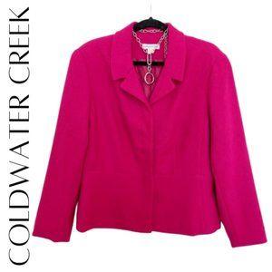 COLDWATER CREEK Peplum Blazer, Petite XL, NWT!